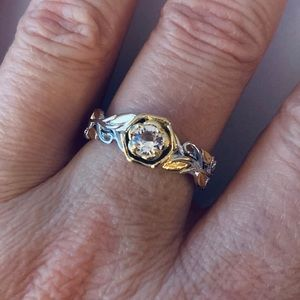 Jewelry - Rose-Gold Two-tone over 925 Sterling Silver Ring